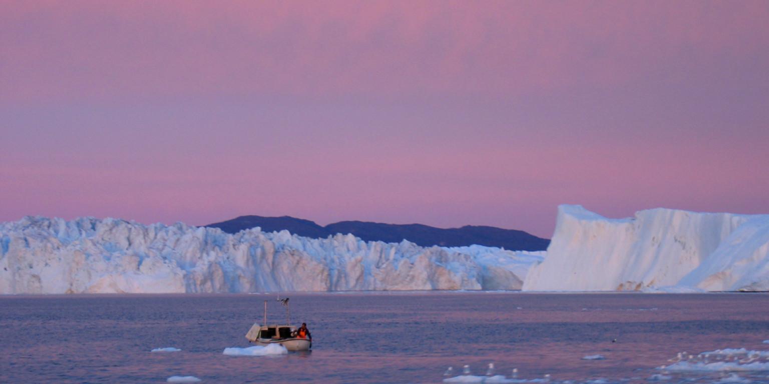 Disko island, icebergs and Eqi, dep. sunday