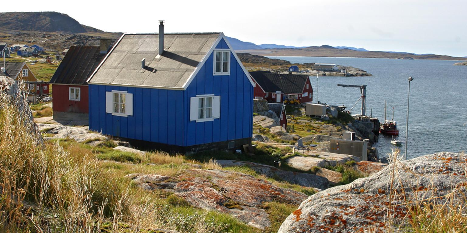 Ilulissat og området syd for Kangia Isfjord