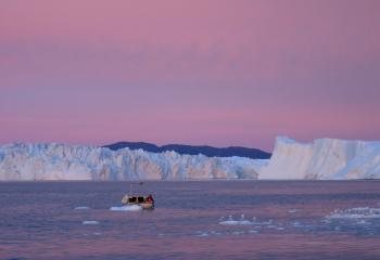 Disko island, icebergs and Eqi, dep. sunday